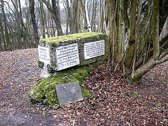 Wittelsbach Castle - Memorial stone on the former site of Wittelsbach Castle