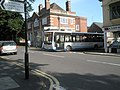 Bus emerging from Beaumont Road into Sandford Avenue - geograph.org.uk - 1449239.jpg