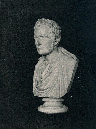 Thomas De Quincey - Bust of Thomas De Quincey, by Sir John Steell.