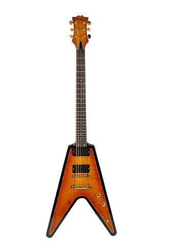 C.R. Alsip Guitars - Image: C.R. Alsip Vintage Drop top Flying V (Frank Hannon guitarist for Tesla)