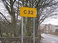 C32 Rare C road sign in Ribblesdale - geograph.org.uk - 260339.jpg