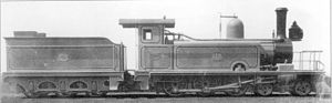CGR 4th Class 4-6-0TT 1882 Joy - As built with side tanks and short firebox, c. 1882