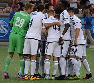 Bethlehem Steel FC - The Bethlehem squad in a huddle