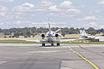 CML Aviation (VH-NKD) Hawker 900XP taxiing at Wagga Wagga Airport (1).jpg