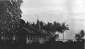 Tobelo - Protestant Church in Tobelo, dated 1924.
