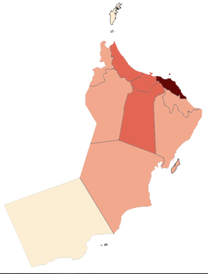 COVID-19 Pandemic Cases in Oman by Governorates.png