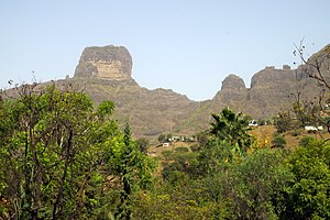 São Lourenço dos Órgãos, Cape Verde - Órgãos, the main peak of the municipality located east of the botanical gardens