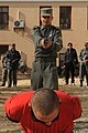 Cadet subdues a suspect during training at the Afghan National Police Academy.jpg