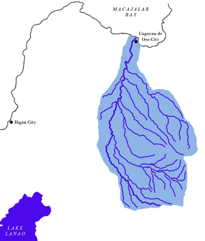 Cagayan River (Mindanao) - Image: Cagayan de oro river watershed