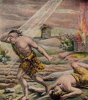 Cain and Abel; as in Genesis 4; illustration f...