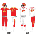 Calgary Dinos football uniform since 2013.png