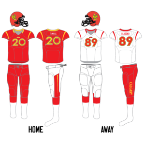 Calgary Dinos - Image: Calgary Dinos football uniform since 2013