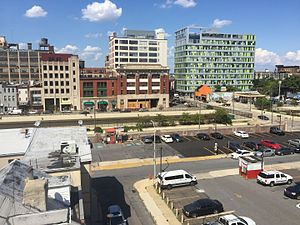 Callowhill, Philadelphia - View of Callowhill from Center City