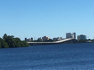Caloosahatchee Bridge - Caloosahatchee Bridge as seen from North Fort Myers