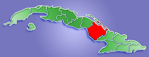 Location of Camagüey Province