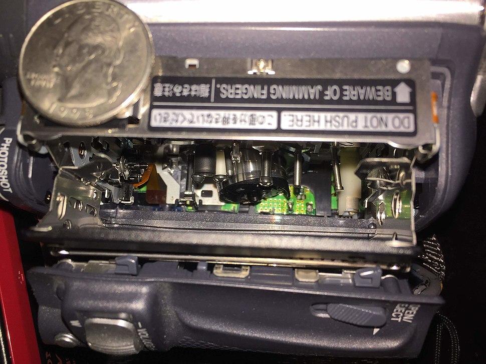 Camcorder DV tape mechanism