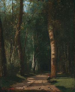 Camille Pissarro - Allée dans une fôret (sur 1859)