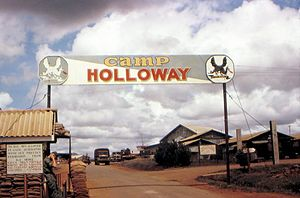 Camp Holloway - Camp Holloway gate in 1965/6