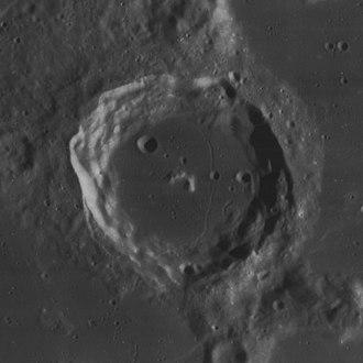 Campanus (crater) - Lunar Orbiter 4 image