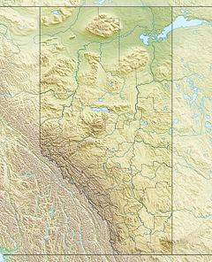 Map showing the location of Dry Island Buffalo Jump Provincial Park