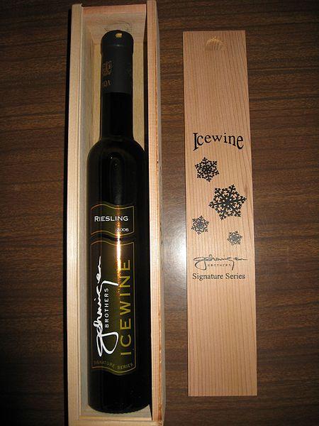 File:Canadian Ice wine in half bottle.jpg
