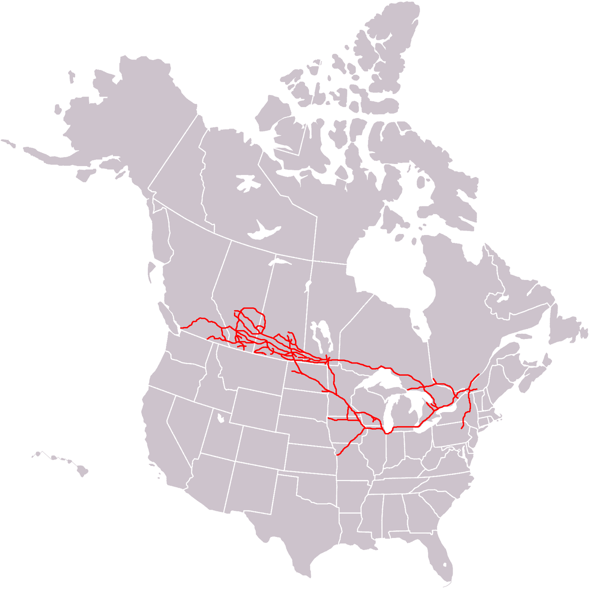 Canadian Pacific Railway Wikipedia - Canada and us map