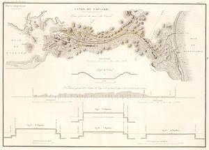 Cape Cod Canal - Image: Canal du Cap Cod (Massachusetts), 1834 map