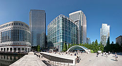 Canary Wharf Wide View 2, London - July 2009.jpg