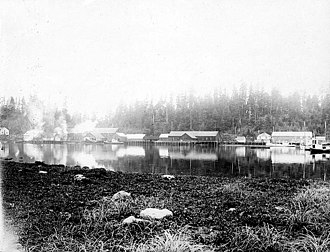 Klawock, Alaska - North Pacific Trading and Packing cannery in Klawak, early 20th century