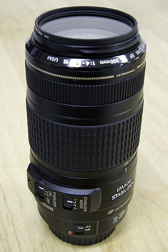 Canon EF 70–300mm lens - Image: Canon 70 300mm f 4 5.6 is usm