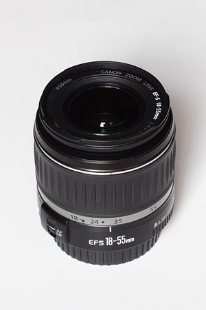 Canon EF-S 18–55mm lens - Image: Canon EF S18 55mm F3.5 5.6 II USM