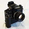 Canon F-1 with Power Winder F and Speed Finder (15295390449).jpg