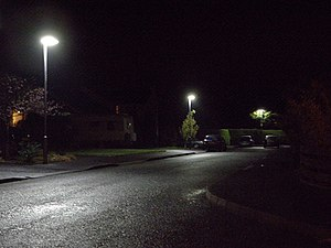English: Canvey Manor Portadown New LED (light...