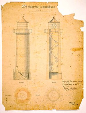 Cape Moreton Light - The 1854 drawings of the lighthouse