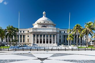 Capitol of Puerto Rico - Front view of the Puerto Rico Capitol