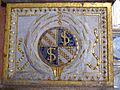 Cappella degli antenati, elefanti malatestiani e dado con stemmi e ritratto s.p. malatesta, sx 04.JPG