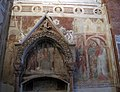 Cappella salerni, tomba di giovanni salerni e affreschi di stefano da zevio 02.JPG