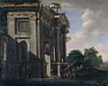 Caprice of a triumphal arch and soldiers by Viviano Codazzi and Adriaan van der Cabel.jpg