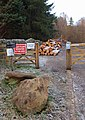 Car park closed for forestry work - geograph.org.uk - 1063117.jpg