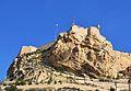 Cara del Moro i castell vistos des del parc de l'Ereta, Alacant.JPG