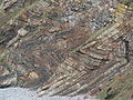 Carboniferous folds. Wanson mouth. - geograph.org.uk - 93546.jpg