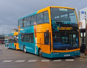 Cardiff Bus double decker (Central Bus Station)