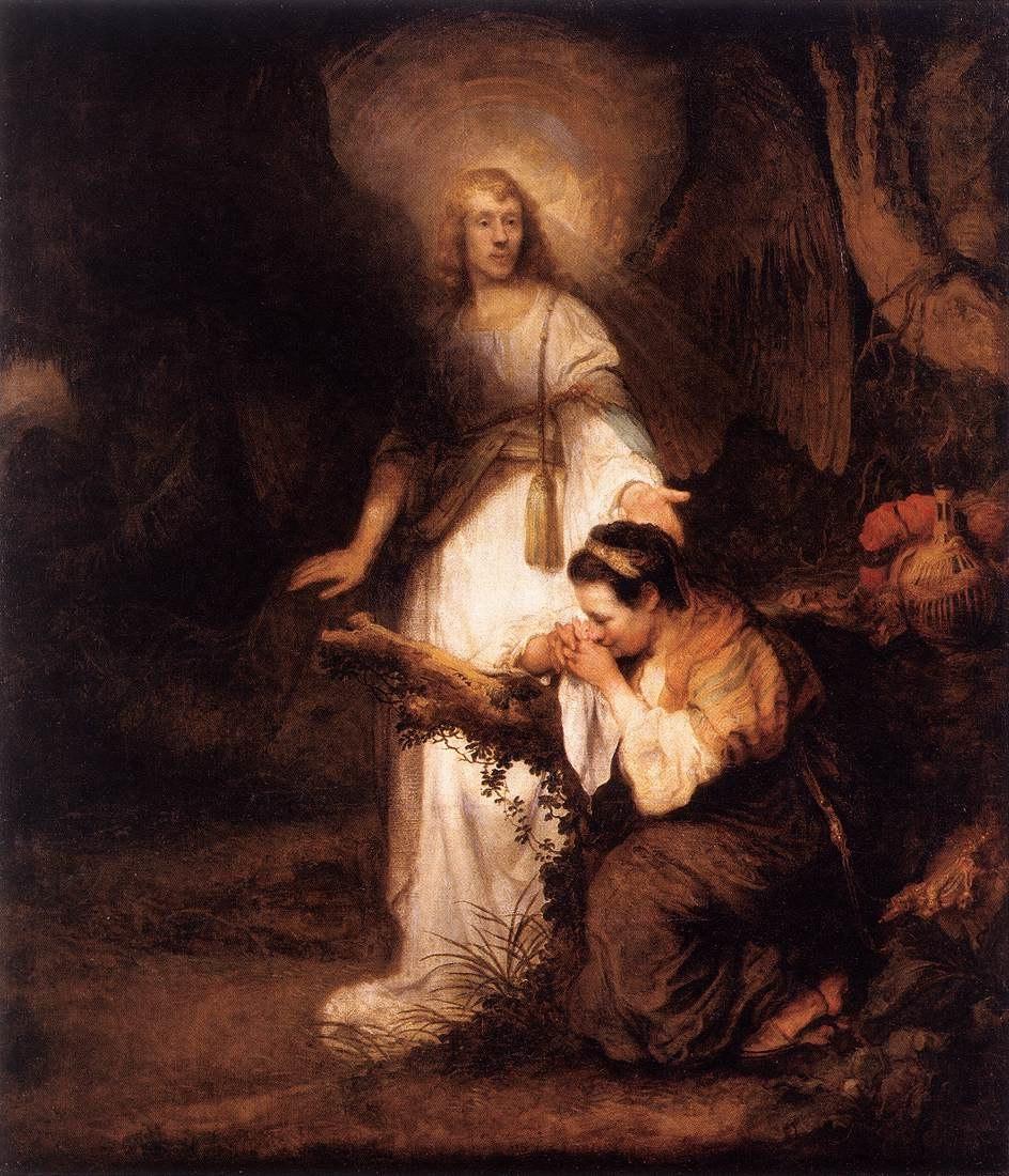 Carel Fabritius - Hagar and the Angel - WGA07722