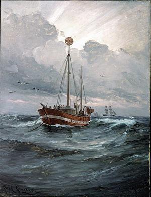 Carl Locher - Image: Carl Locher The lightship at Skagen Reef Google Art Project