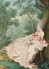 Carmontelle: Angebliches Porträt der Marquise de La Croix, deren Geliebter Beaumarchais in Madrid war. (Quelle: Wikimedia)