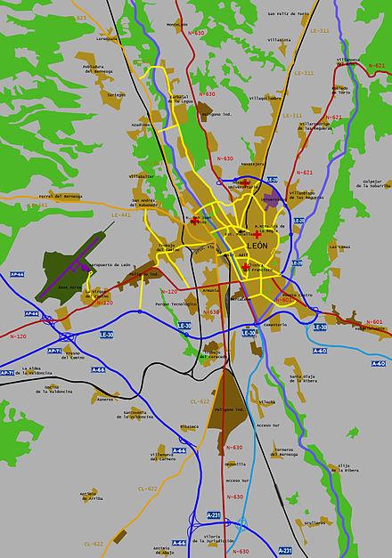 Transporte en Len Espaa  Wikiwand