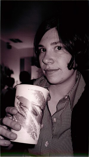 Music of Olympia - Image: Carrie Brownstein with a paper cup