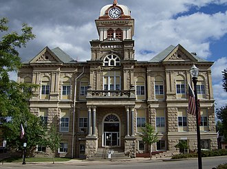 Carroll County, Ohio - Image: Carroll County Courthouse, Ohio