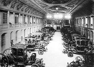 National Coach Museum - The exhibition of royal carriages, ca. 1907