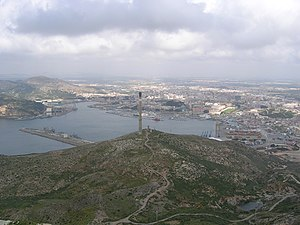 223rd Mixed Brigade (Spain) - View of Cartagena where the 223th MB was based.